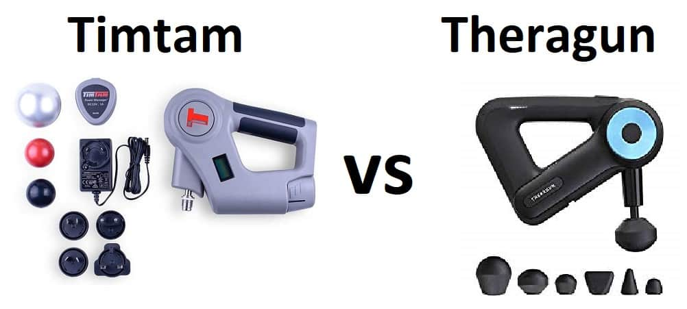 Timtam Vs Theragun A Massage Gun Comparison To Help You Choose